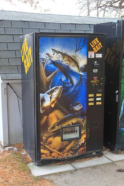 Máquina vending de Cebo vivo