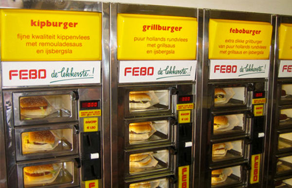 Febbo expendedora comida caliente Amsterdam