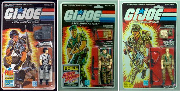 Muñecos años 80 Gi Joe en sus blisters originales