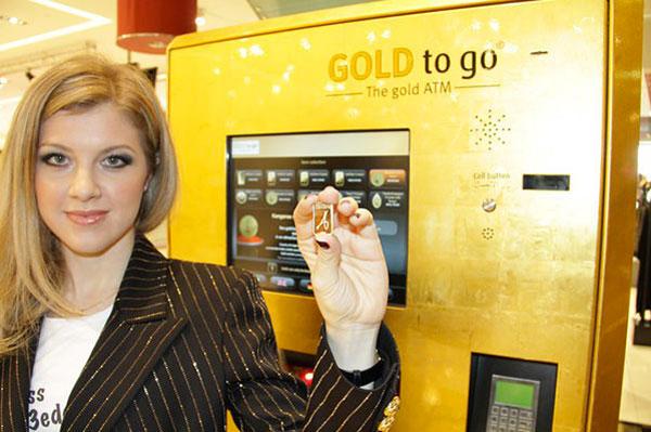 Expendedora de lingotes de oro
