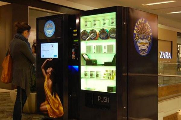 Máquina de vending de Caviar en Los Angeles