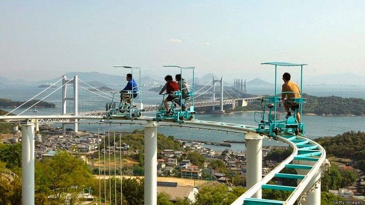 Montaña Rusa a pedales en Japón