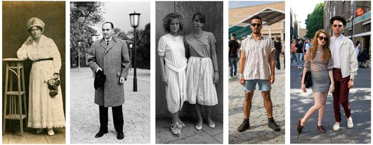 c2ac69fdd3c96 Así vestíamos hace 100 años y así vestimos ahora - ¡Mola!