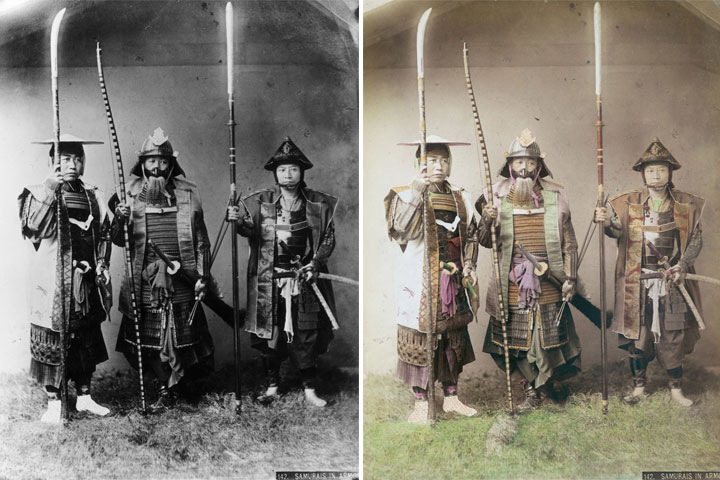 armaduras-samurai-coloreadas