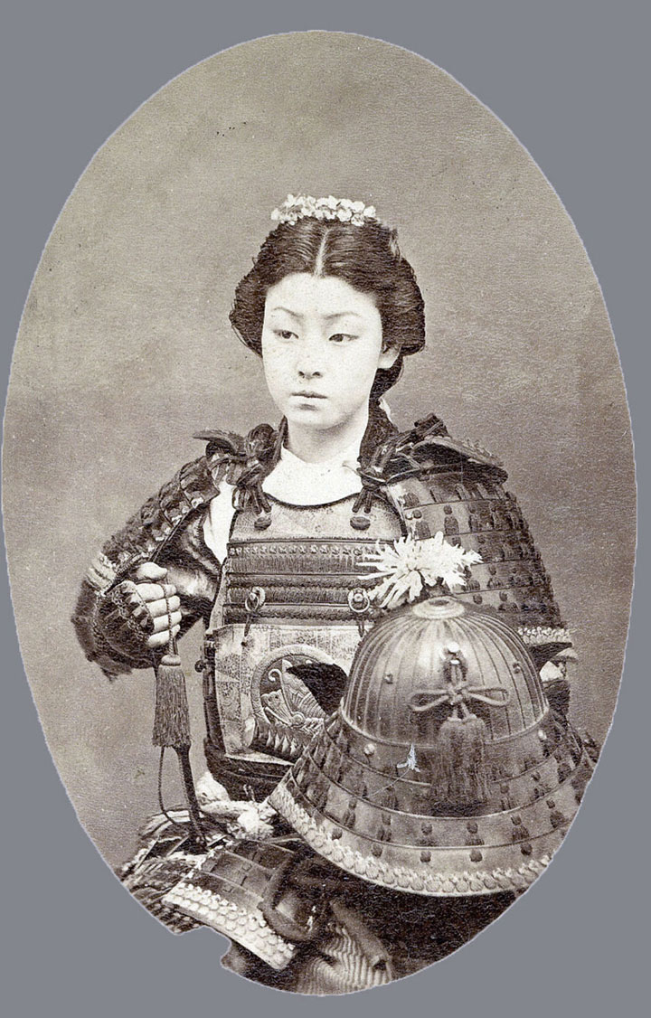 mujer samurai epoca feudal