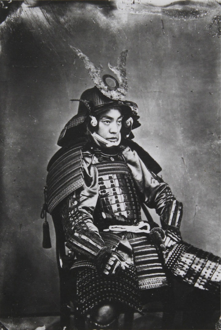 Último samurai vivo con la armadura de guerra