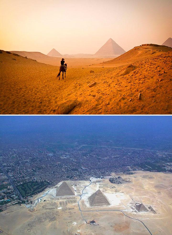 Decepcionante entorno de las Pirámides de Egipto