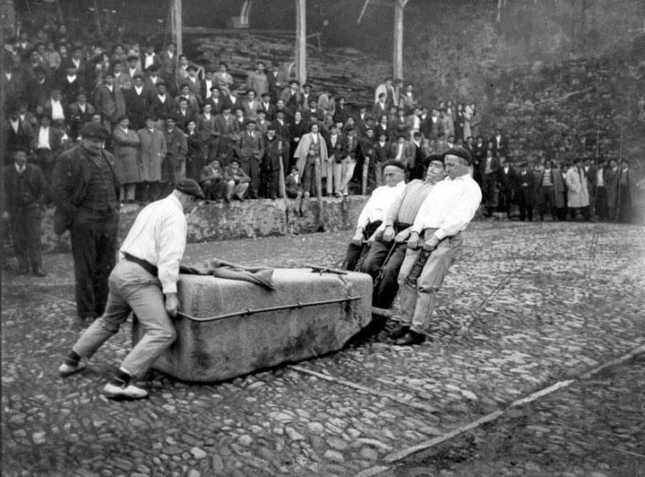 Deportes rurales vascos en los años 50