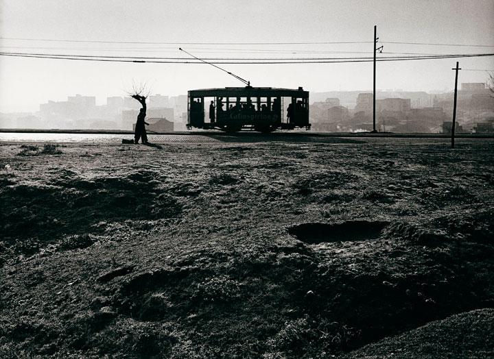 Tranvía en el paseo de Extremadura en el año 1959
