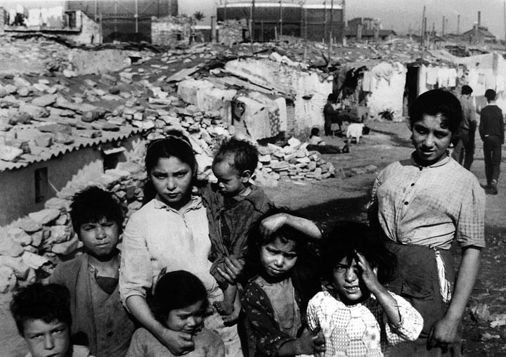 Somorrostro barrio de barracas en Barcelona de 1958