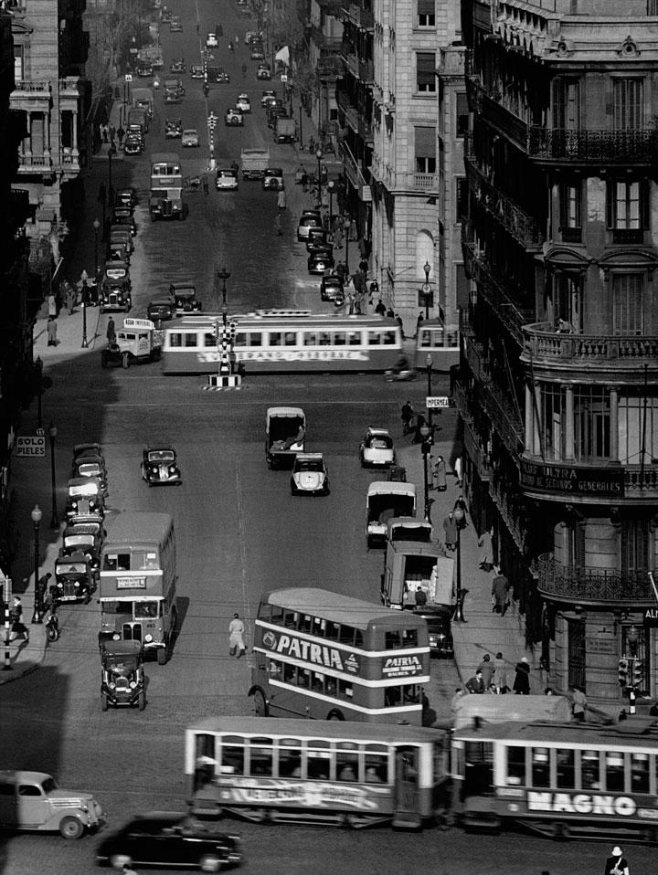 Calle Balmes de Barcelona en 1953