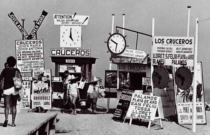 Anuncios de cruceros turísticos en Tossa de Mar 1965